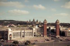 巴塞罗那。卡塔龙尼亚,西班牙-旅行背景 免版税库存图片