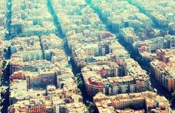 巴塞罗那住宅区在西班牙 库存照片