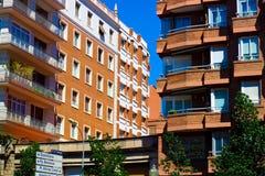 巴塞罗那住宅区 图库摄影