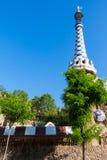 巴塞罗那公园Guell Gaudi华而不实的屋  免版税库存照片