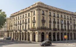 巴塞罗那典型的建筑学  免版税库存照片