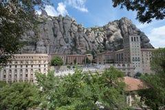 巴塞罗那卡塔龙尼亚修道院蒙特塞拉特岛西班牙 免版税库存图片