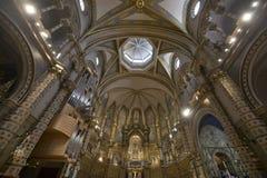 巴塞罗那卡塔龙尼亚修道院蒙特塞拉特岛西班牙 库存照片