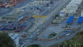 巴塞罗那口岸鸟瞰图  股票视频
