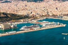 巴塞罗那口岸 免版税图库摄影