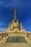 巴塞罗那哥伦布纪念碑 库存照片