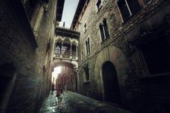 巴塞罗那哥特式季度 库存照片