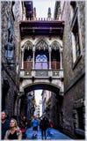巴塞罗那哥特式季度 库存图片
