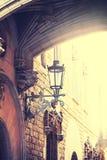 巴塞罗那哥特式闪亮指示运输路线季度 免版税图库摄影