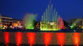 巴塞罗那喷泉横向唱歌 免版税库存图片