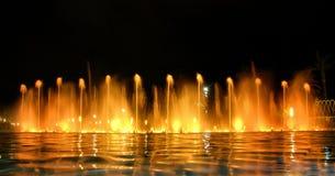 巴塞罗那喷泉横向唱歌 免版税库存照片