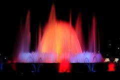 巴塞罗那喷泉横向唱歌 库存照片