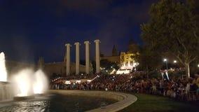 巴塞罗那喷泉 库存图片