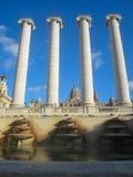 巴塞罗那喷泉  免版税图库摄影