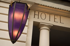 巴塞罗那大厦门面旅馆现代西班牙 图库摄影