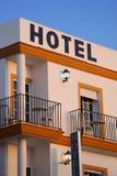 巴塞罗那大厦门面旅馆现代西班牙 免版税库存图片