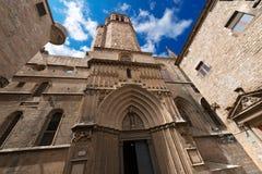 巴塞罗那大教堂西班牙 库存照片