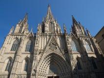 巴塞罗那大教堂 免版税图库摄影