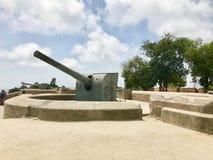 巴塞罗那大炮 免版税库存照片