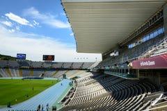 巴塞罗那奥林匹克体育场 免版税库存照片