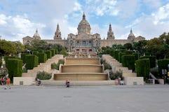 巴塞罗那宫殿 免版税图库摄影