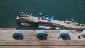 巴塞罗那小船 库存照片