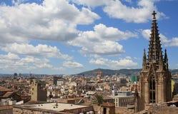 巴塞罗那屋顶 库存照片