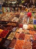 巴塞罗那市场摊位 库存图片