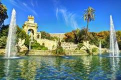 巴塞罗那市我西班牙-旅行欧洲的射击 免版税库存图片