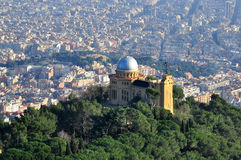 巴塞罗那市视图 免版税库存图片