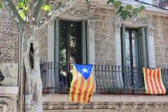 巴塞罗那市sightseeings,西班牙 巴塞罗那大厦  免版税图库摄影