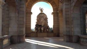 巴塞罗那意想不到的艺术 免版税库存照片