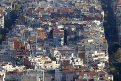 巴塞罗那扩展区的房子看法  免版税库存图片