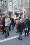 巴塞罗那抗议 免版税库存照片
