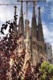 2026年巴塞罗那是天主教教会完整建筑de的1882预计expiatori被资助的fam familia不专用有la最少lia罗马sagrada西班牙寺庙直到对下 免版税库存图片