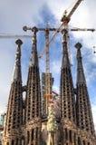 2026年巴塞罗那是天主教教会完整建筑de的1882预计expiatori被资助的fam familia不专用有la最少lia罗马sagrada西班牙寺庙直到对下 免版税图库摄影