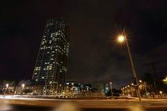 巴塞罗那晚上 免版税库存照片