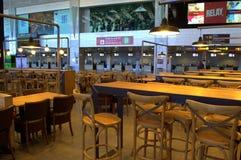 巴塞罗那机场咖啡馆 免版税库存图片