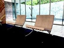 巴塞罗那椅子 免版税库存照片