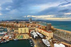 巴塞罗那海岸  免版税图库摄影