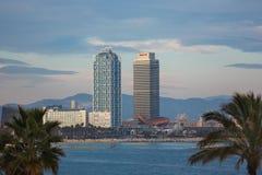 巴塞罗那海滨  库存照片
