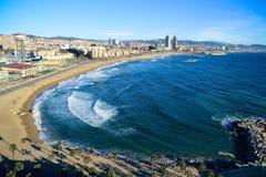 巴塞罗那海滩(Barceloneta) 库存图片