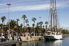 巴塞罗那港口 图库摄影