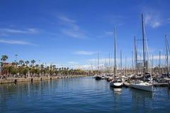 巴塞罗那港口 免版税图库摄影