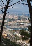 巴塞罗那港口 库存照片
