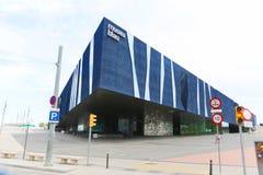 巴塞罗那现代建筑学  库存照片