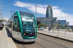 巴塞罗那电车 免版税图库摄影