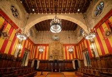 巴塞罗那的城镇厅,巴塞罗那,西班牙 免版税库存图片
