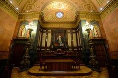 巴塞罗那的城镇厅,巴塞罗那,西班牙 图库摄影