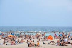 巴塞罗那的海滩。 免版税库存图片